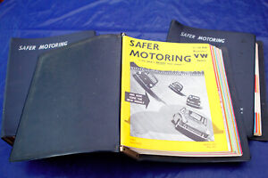 RARE-VW-VOLKSWAGEN-SAFER-MOTORING-MAGS-35-ISSUES-IN-BINDERS-61-62-63-64-65