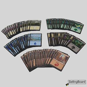 MTG |Magic the Gathering | Standard Länder / Basic Lands - Set |100 Karten |5