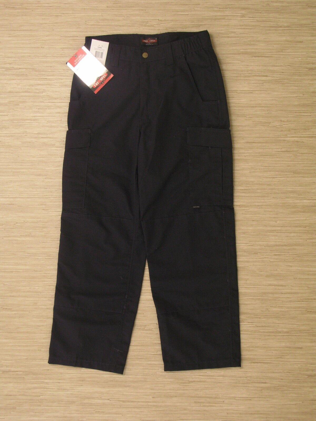Tru-Spec 24-7 Series Navy bluee Cotton Blend Cargo Pants Mens Size 30x36 Rip Stop