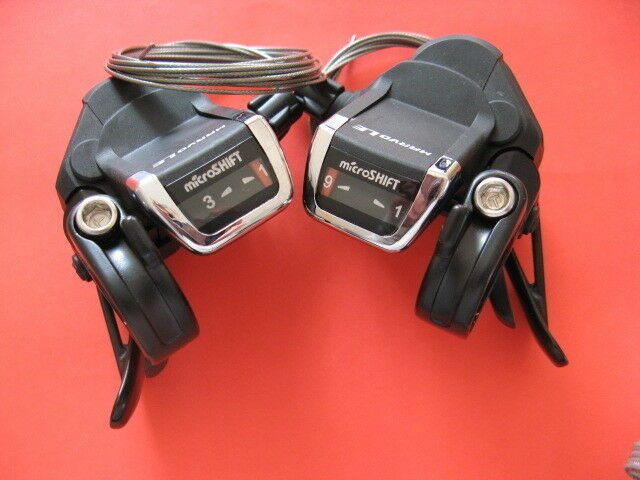 SCHALTHEBEL Set 3X9 Microshift MARVO LE Shifter Shimano kompatibel NEU