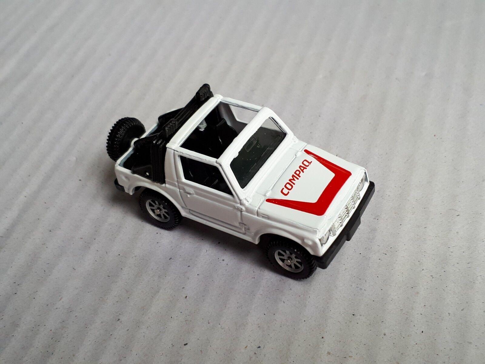 Rare HTF EDOCAR Suzuki Samurai Jimny SJ413Q In bianca  COMPAQ  Promo  Mint  Loose