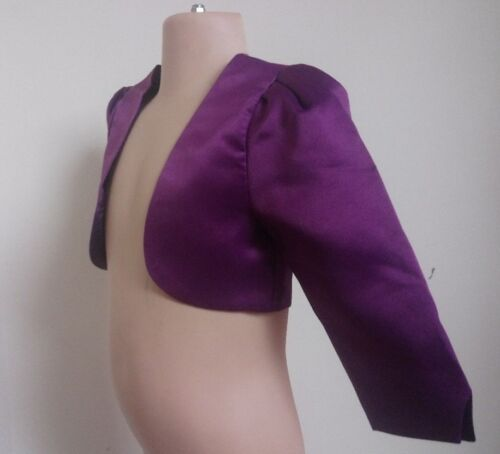 Purple Grape Bolero Jacket Cover Up Girl/'s Wedding Christening Party Prom 0-13y