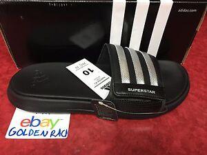 a3334893cb67d Adidas Superstar 4G Men Black Slides Athletic Sport Sandals AQ5893 ...
