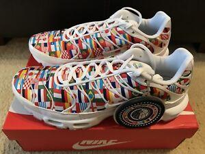 7717d8c43537 Nike Air Max Plus NIC QS Men s sz 11 White Multi World Cup Flag Pack ...