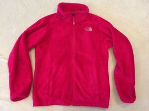 The-North-Face-Oso-Jacket-Pink-Girls-Soft-Fleece-Full-Zipper