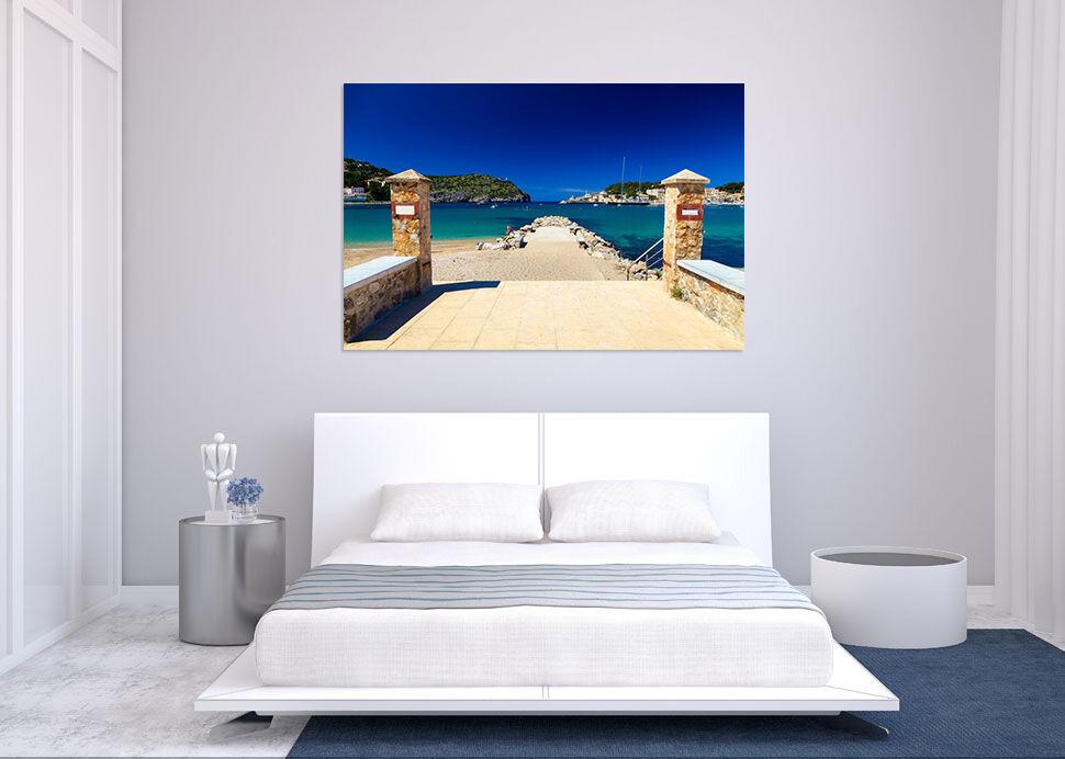 3D Blauer Himmel Strand 574 Fototapeten Wandbild BildTapete AJSTORE DE Lemon