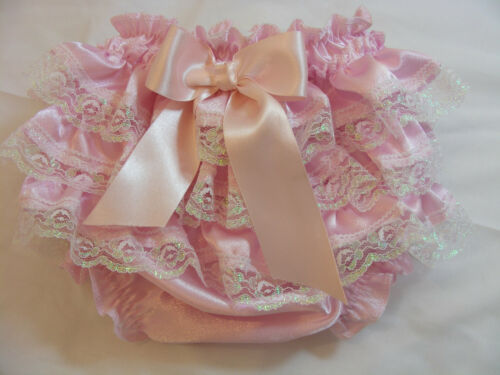 REBORN BABY GIRL OOAK PINK SATIN FRILLY LACE ROMANY//GYPSY KNICKERS  ALL SIZES