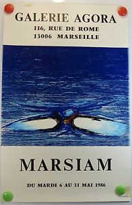 Affiche-ancienne-Art-1986-Galerie-Agora-a-Marseille-exposition-MARSIAM-1bPB