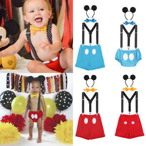1a535c353 Mickey Mouse Baby Boy 1st Birthday Party Cake Smash Photo Prop ...