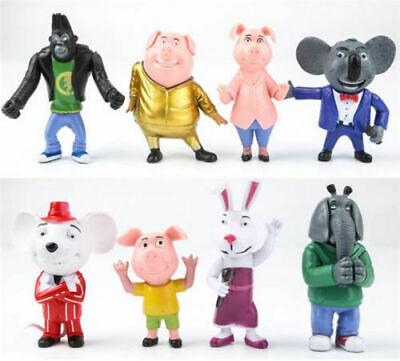 8PCS Movie Sing Cartoon Action Figure Childern Toys Gift