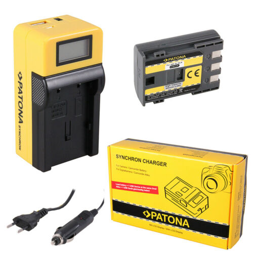 Batteria Patona caricabatteria Synchron LCD USB per Canon NB-2LH