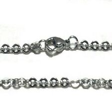Stainless Steel 16 Inch 2mm Oval  Link Neck Chain Necklace