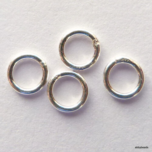 10 Sterling Silver jump rings 8 mm X 1.2 mm wire soldered