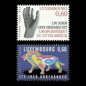 Luxembourg-2014-patriotique-serie-main-lion-Fine-Art-Faune-Animaux-Neuf-sans-charniere