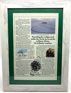 ROLEX-Submariner-16610-Original-Advert-Advertising-Memorabilia-Framed