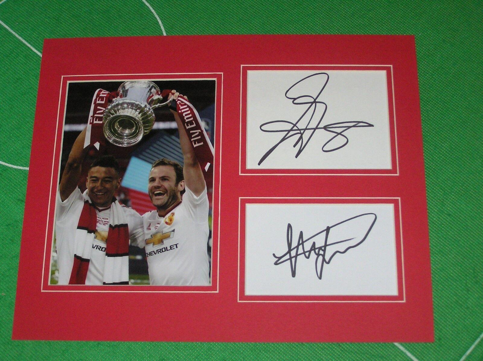 Juan Mata & Jesse Lingard Lingard Jesse Signé Club Football Manchester United 2016 871256