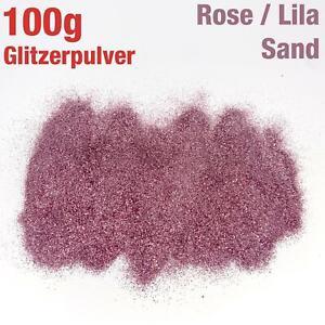 100g-Gr-Glitzerpulver-Brillante-Arena-Suave-Rosa-Purpura-Color-Artesanal-Deco