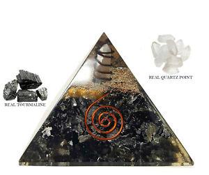 Extra-Large-Black-Tourmaline-Orgonite-70-75mm-Orgone-Gemstone-Pyramid-XL-SIze