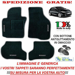 KIA Tappeti Auto con BATTITACCO per Tutti i Modelli OFFERTA SHOCK!!! 2 BLOCK