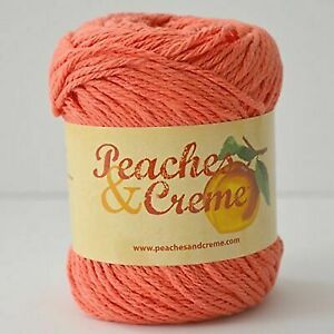 #7 Peaches N Cream Yarn 220 Yds 5 Oz Total 100 Cotton Ocean Coral