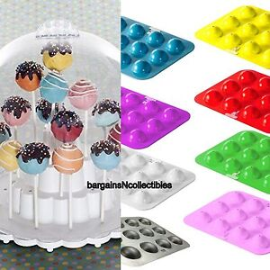 New Nordic Ware Cake Pops Stand Dome Cover Baking Pan Pink