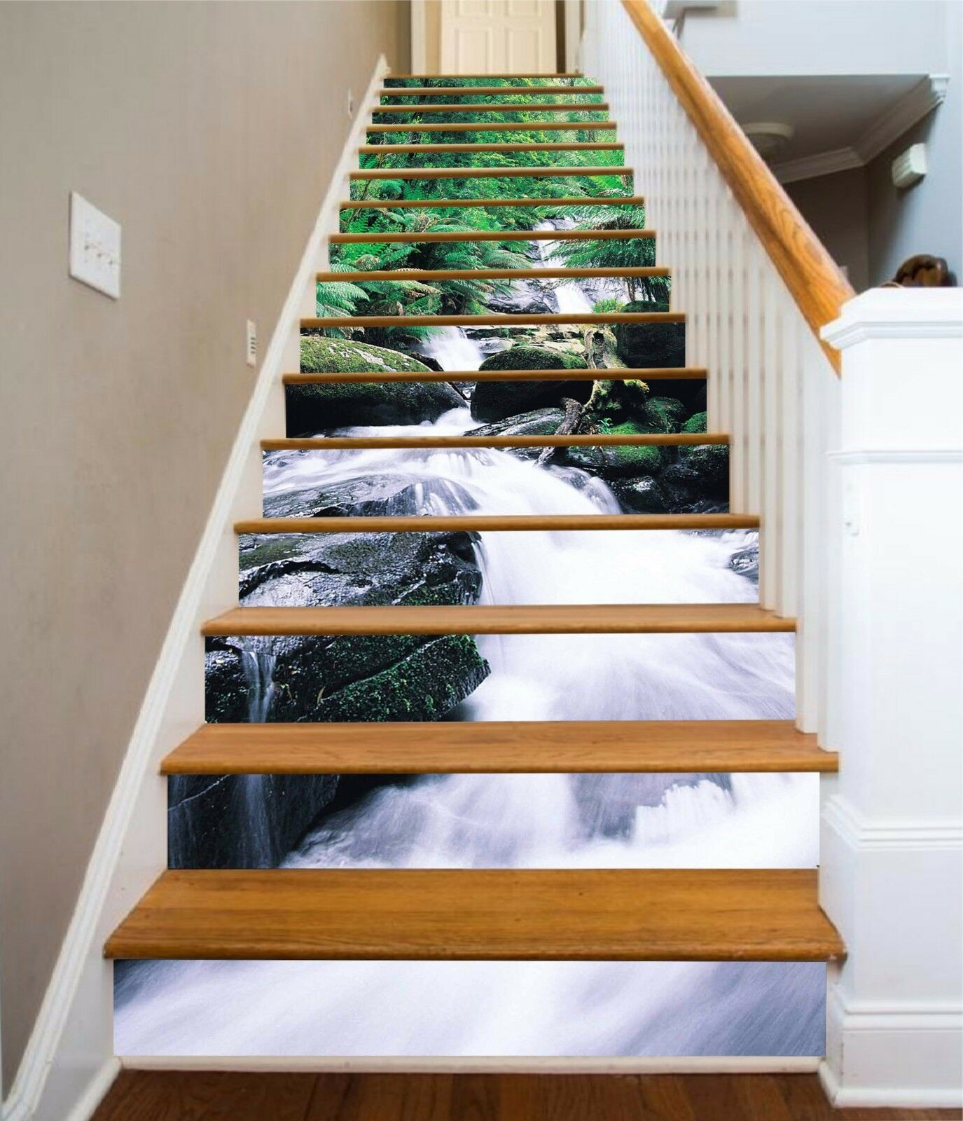 3D Tree water 535 Stair Risers Decoration Photo Mural Vinyl Decal Wallpaper UK