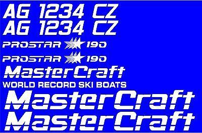 MasterCraft Prostar 190 Full set #4 w//Matching Boat Registration Numbers