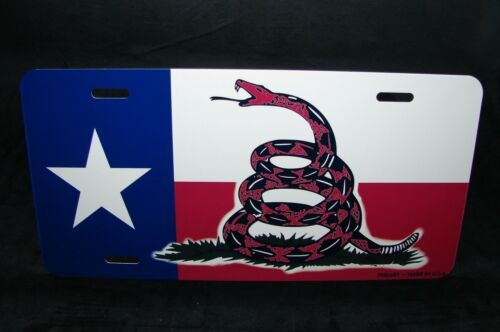 DONT TREAD ON ME TEXAS STATE FLAG METAL NOVELTY LICENSE PLATE The Gadsden Flag