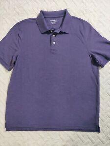 Purple,Large Mens Polo Shirt Short Sleeves