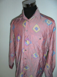 Angelo-Litrico-90s-Hemd-crazy-pattern-shirt-80er-oldschool-Viskose-new-wave-M-L