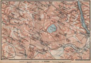 Antiques Laacher See Vulkaneifel Topo-map Andernach Mayen Rhineland-palatinate 1892 Demand Exceeding Supply