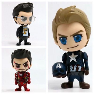 Captain America Civil War Iron Man Cosbaby Bobble-Head Mini Figure New In Box