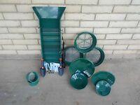 31pc Mini/ Large Classifier, Sluice Box, Green Gold Pan Panning Kit