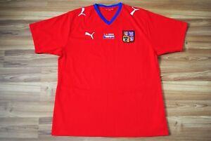 CZECH-REPUBLIC-HOME-FOOTBALL-SHIRT-2008-2009-JERSEY-01-04-2009-CZECH-SLOVAKIA-XL