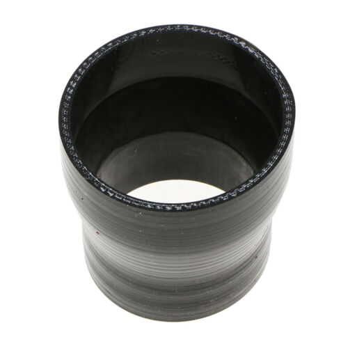 """3/"""" to 3.5/"""" Silicone Coupler Straight Reducer Hose Intercooler 4-Ply Black"""