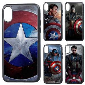 Dettagli su CAPITAN America Avengers Marvel SILICONE iPhoneSE 2020 6 7 8 X XR XS COVER- mostra il titolo originale