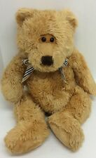 "Animal Alley Brown Teddy Bear Plush Plaid Bow Stuffed Animal Large 24"" Geoffrey"