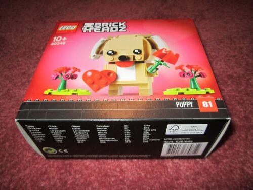NEW//BOXED//SEALED LEGO BRICK HEADZ VALENTINE PUPPY 40349