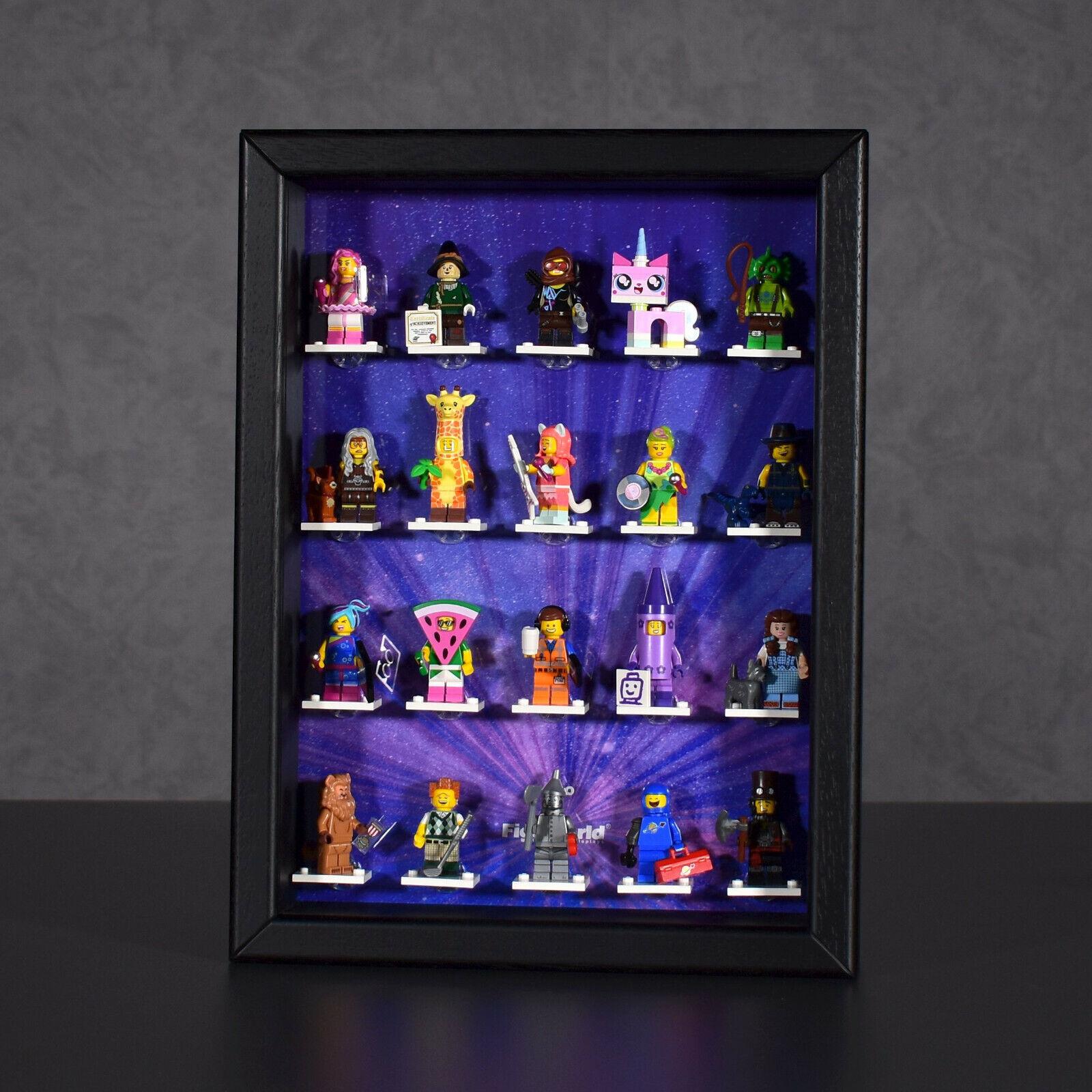 FiguCase Click System Vitrine für LEGO ® Serie Movie 2 Figuren 71023 schwarz