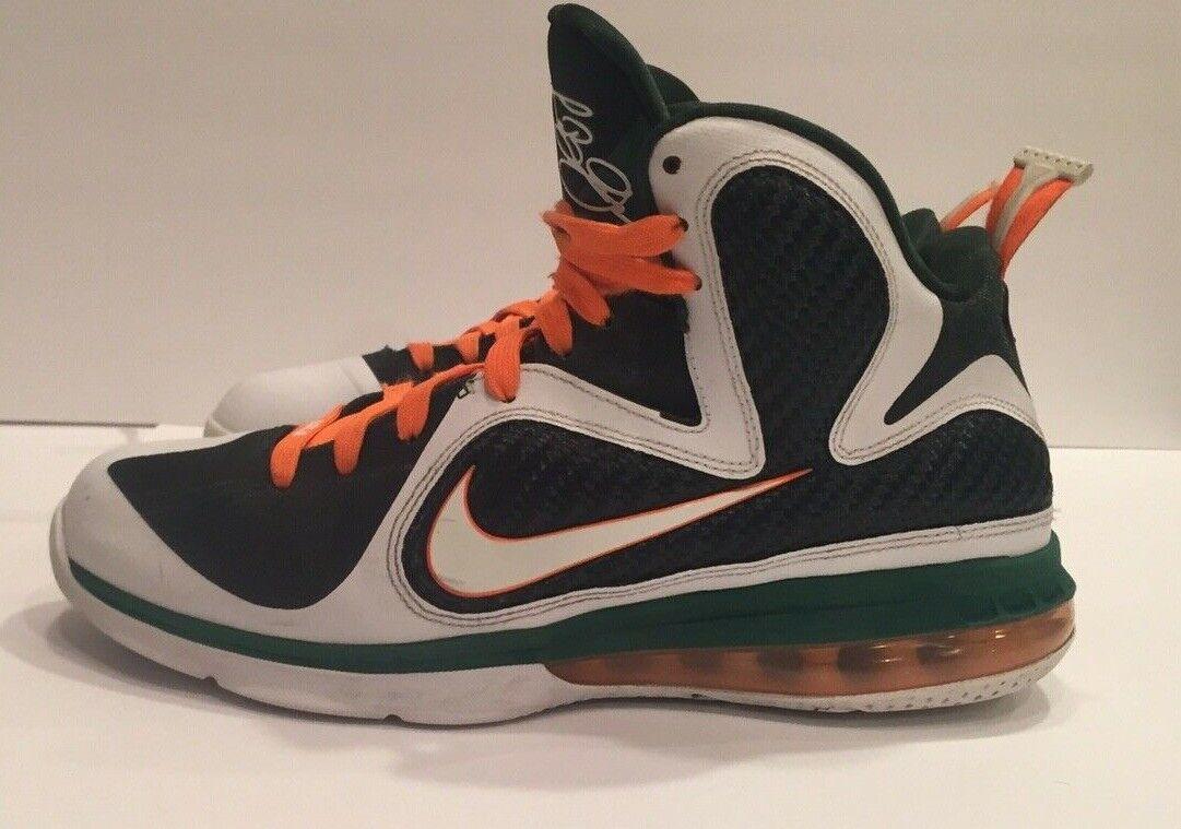 Lebron 9 Hurricanes Size 9 Mens Basketball shoes Retro
