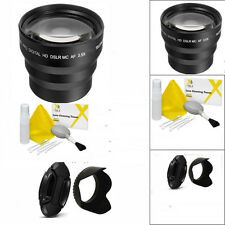 SPORTS ACTION 3.5X TELEPHOTO ZOOM LENS + HOOD FOR CANON EOS REBEL T3 T3I T5 T5I