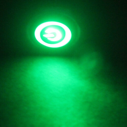 12V 3A 16mm Green Power Angel LED Black Metal Toggle Switch Push Button Sales