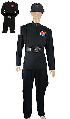 Imperial Officer Black Uniform Belt Ranks costume Set Star Wars CC.77 Cap