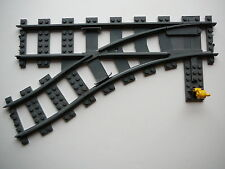 """LEGO - 53407 - Weiche links / Train Track  - """"DkStone"""" (z.B.7898,7939,7895)"""