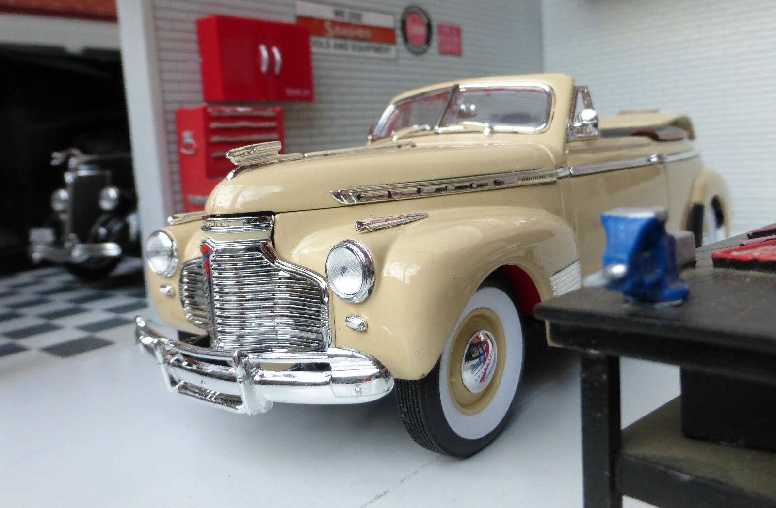 G LGB 1 24 Echelle Chevrolet Spécial de Luxe Cabriolet 1941 Modèle Moulé Crème