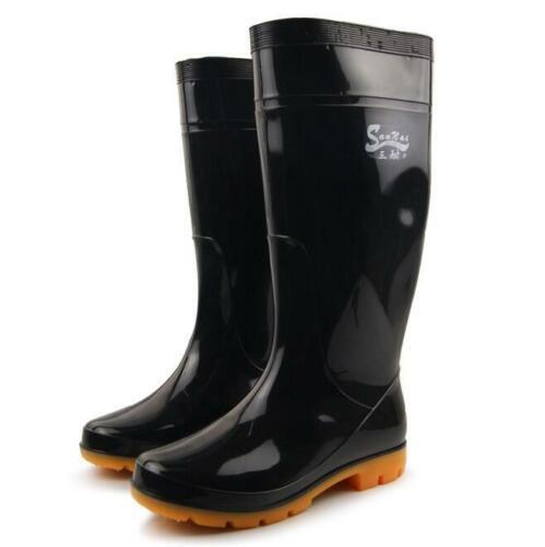 Mens Waterproof Garden Work Rubber Casual Rain Water Boots Shoes Plus Size 6--15