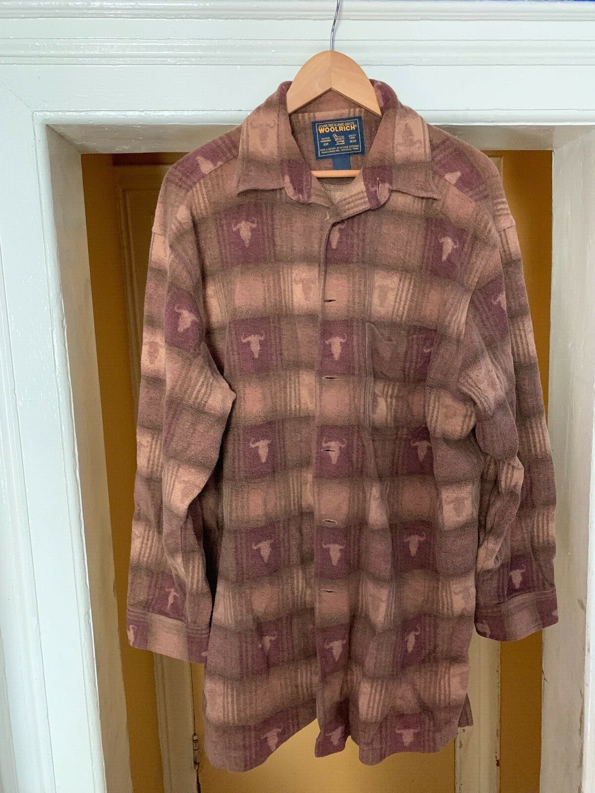 Vintage John Rich and Bros. Woolrich Button Down … - image 1