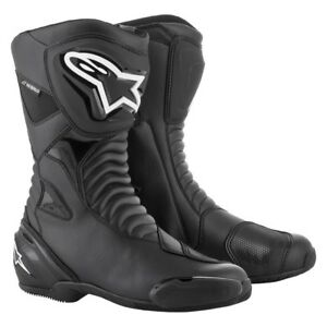 Alpinestars-SMXS-WP-Waterproof-Black-Motorbike-Street-Sports-Boots