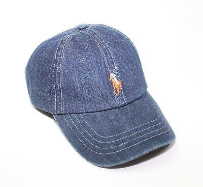 77918b0a5f8 Polo Ralph Lauren Denim Blue Sports Cap Adjustable Baseball Hat New ...