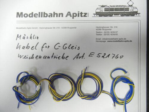 74491 Weichenantrieb C-Gleis E521760 4 Stück Kabel für 74490 Märklin 521760